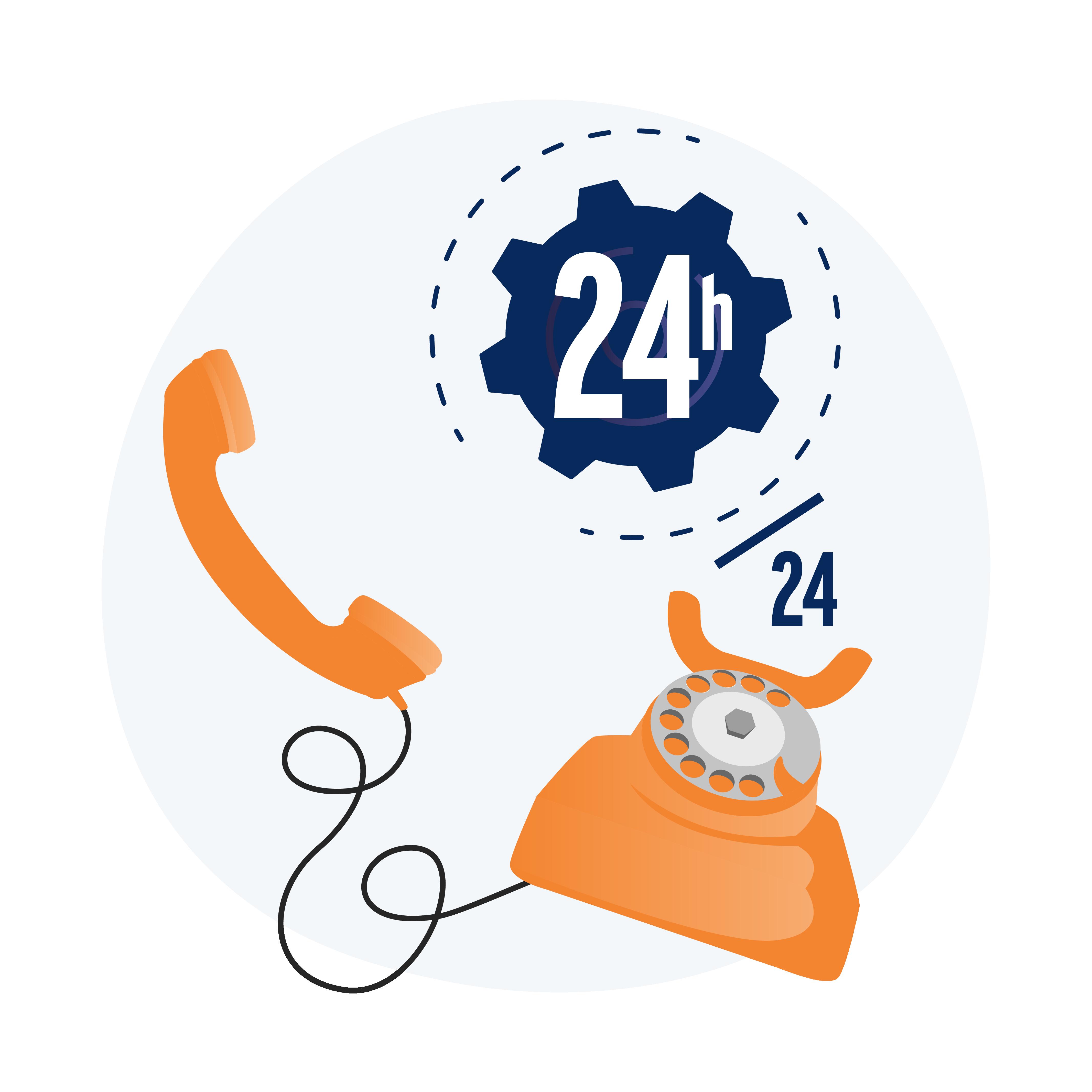 Assistance téléphonique 24h